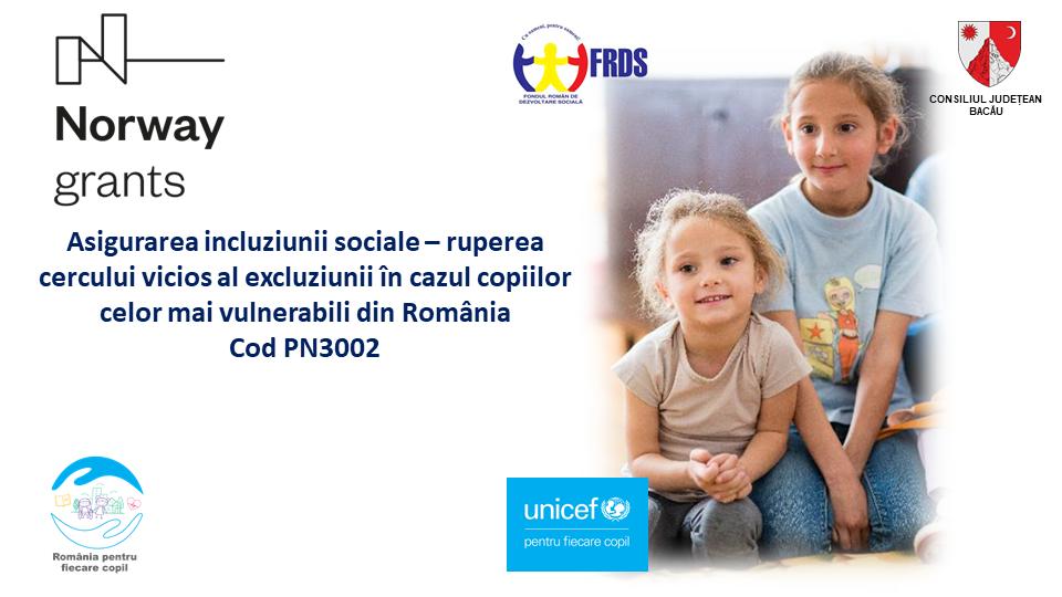 Proiect Unicef - Asigurarea incluziunii sociale